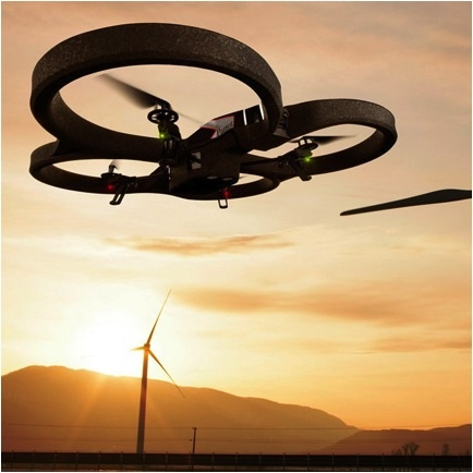 $300 high-tech flying toy with a built-in camera and recording capability, Thanks to French company Parrot's AR.Drone