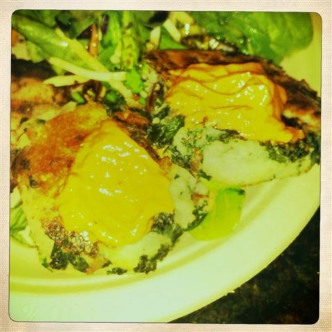 Potato and Kale Cakes with Spicy Rouille | Potatoes | Pinterest