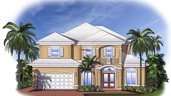 Florida mediterranean house plan 60543 for Florida mediterranean house plans