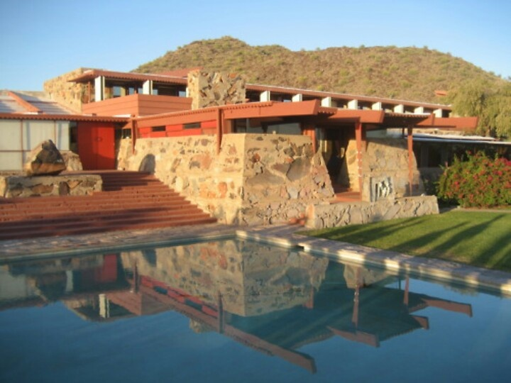frank lloyd wright house in phoenix frank lloyd wright. Black Bedroom Furniture Sets. Home Design Ideas