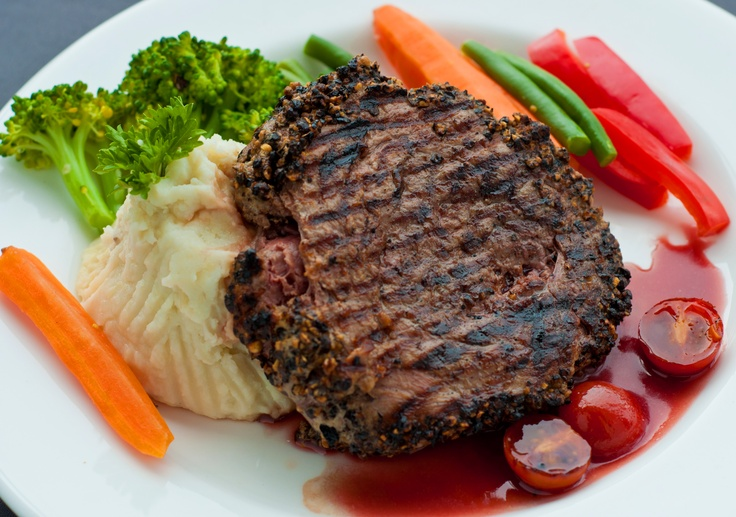 grilled flank steak with spicy pepper and watermelon salad rib steak ...