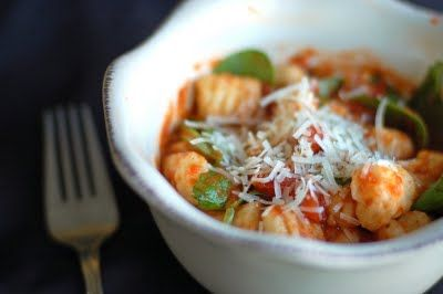 Gnocchi with Marinara and Fresh Spinach | Food & Recipes | Pinterest