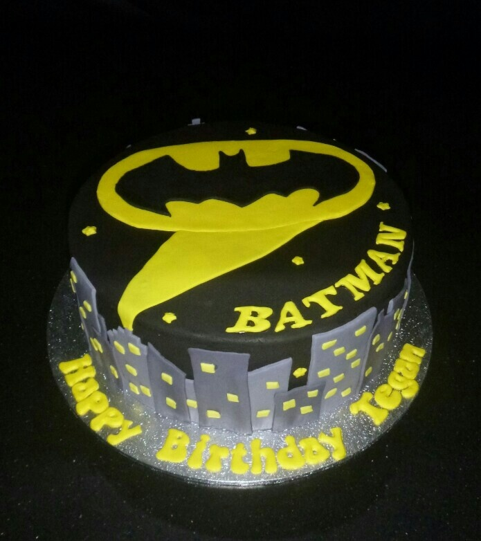 Batman themed birthday cake  Ayden bday  Pinterest