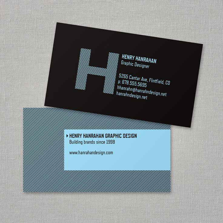 Bold Monogram Business Card Vistaprint