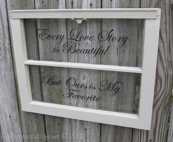 Craft Ideas For Old Window Panes 14