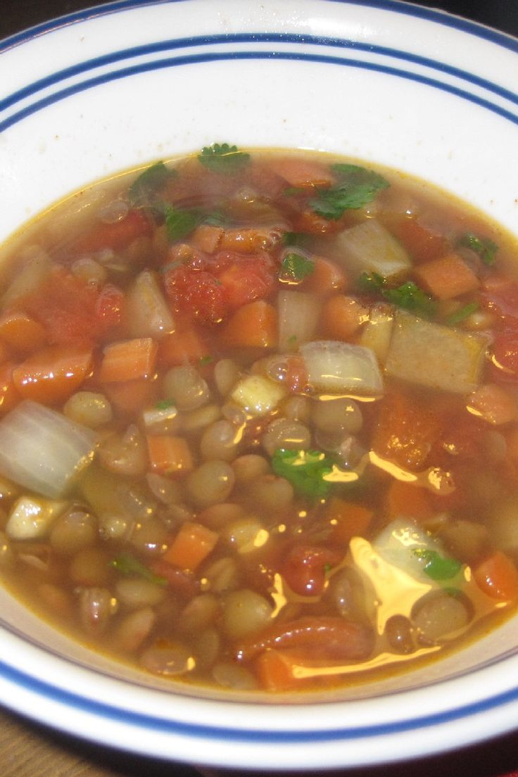Slow Cooker Lentil and Ham Soup Recipe | Cook | Pinterest