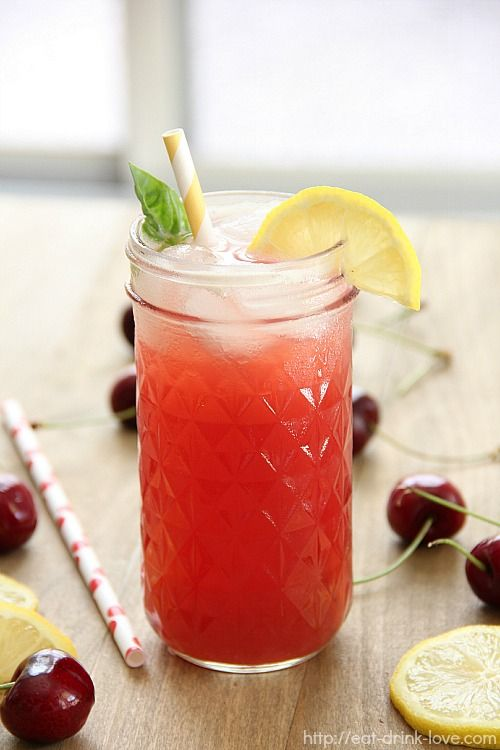Cherry Vodka Spritzer