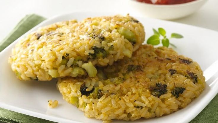 & cheese sauce, and make these delicious broccoli and rice patties ...