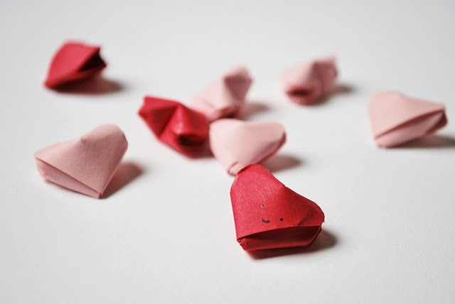 valentine origami heart wings