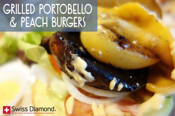 Grilled Portobello & Peach Burgers | For Stuffing My Face - Veggies ...