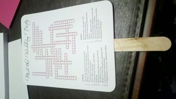 Wedding program crossword our big gay wedding extravaganza pinte