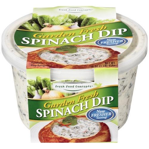 Fresh Food Concepts Garden Fresh Spinach Dip Sleeve