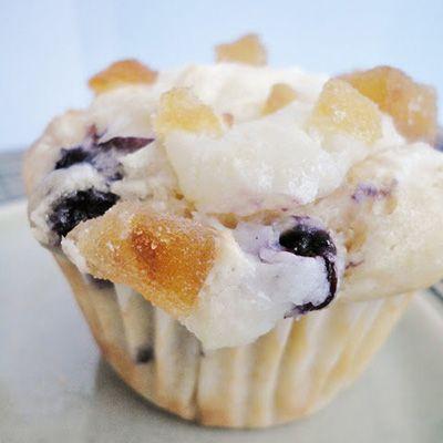 Blueberry Lemon Cream Cheese Muffins | treats | Pinterest