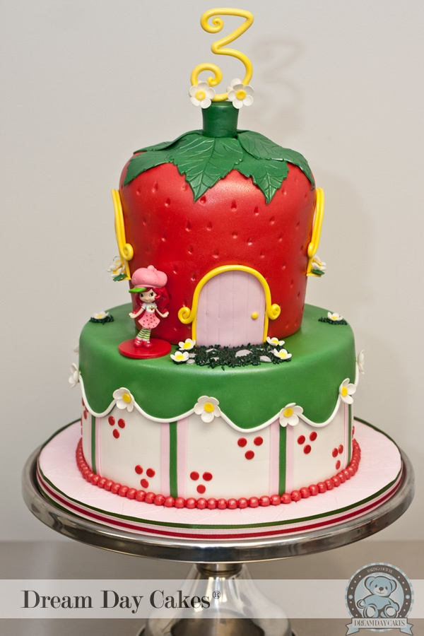 Strawberry Shortcake cake by Dream Day Cakes