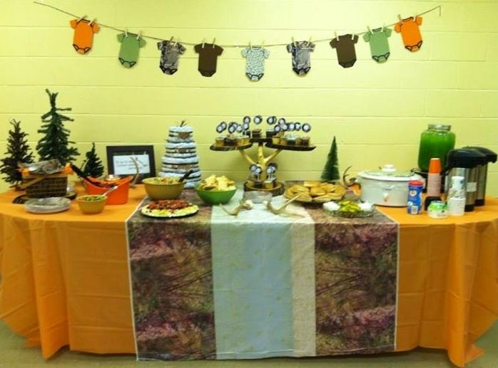 camo baby shower ideas