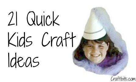 21 quick kids crafts ideas craftbits