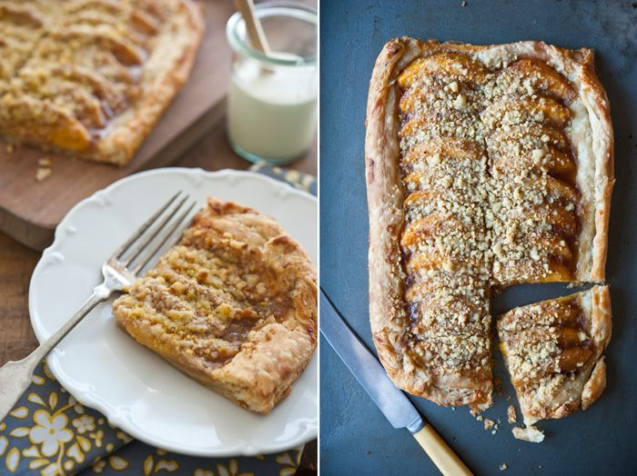 Peach Tart with Pistachio Streusel and Mascarpone Cream | Beyond the ...