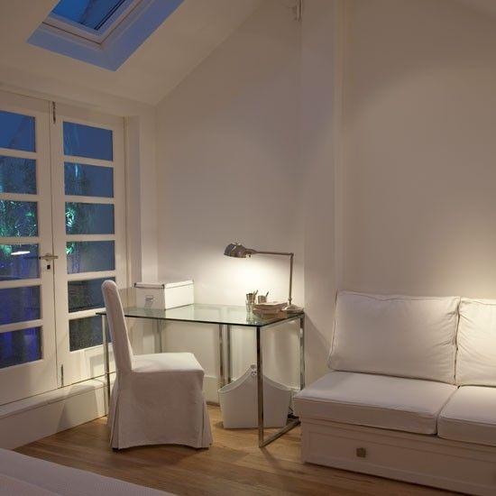 Wohnideen Home Office weiß minimalistisch-modern Schlafzimmer
