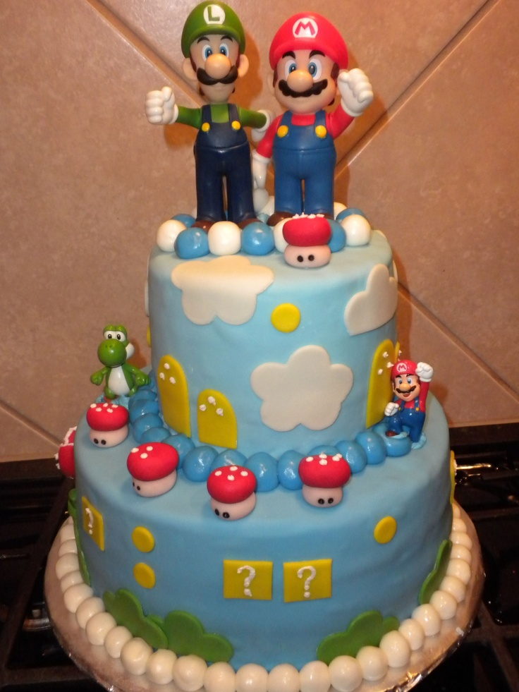 Super Mario Bros - WASC Cake with buttercream icing ...