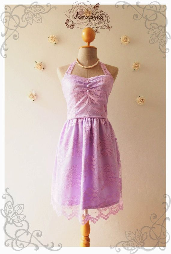 Lilac lace dress vintage inspired lace dress party purple wedding bri
