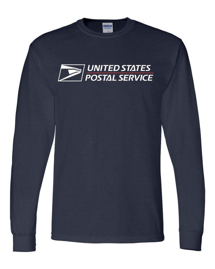 Usps postal long sleeve t shirt with full postal logo on for Usps t shirt shipping