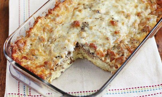 Sausage Breakfast Casserole | Ezra Pound Cake. An overnight casserole ...
