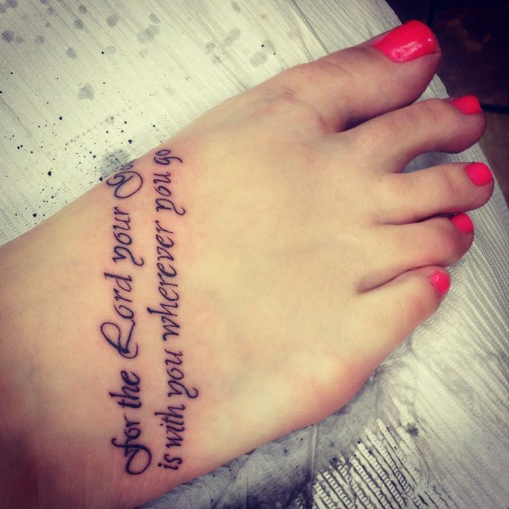 bible quote tattoos on foot - photo #1