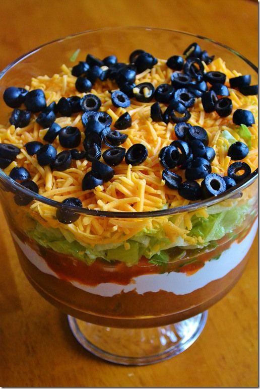 Seven Layer Taco Dip | Recipes | Pinterest