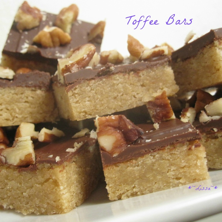 ... Toffee Bars...so much like my grandmother's (except the chocolate