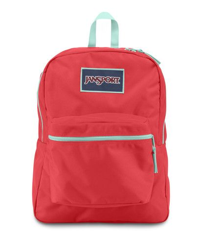 Jansport Overexposed Backpack - Coral Dusk / Aqua Dash Available at ...