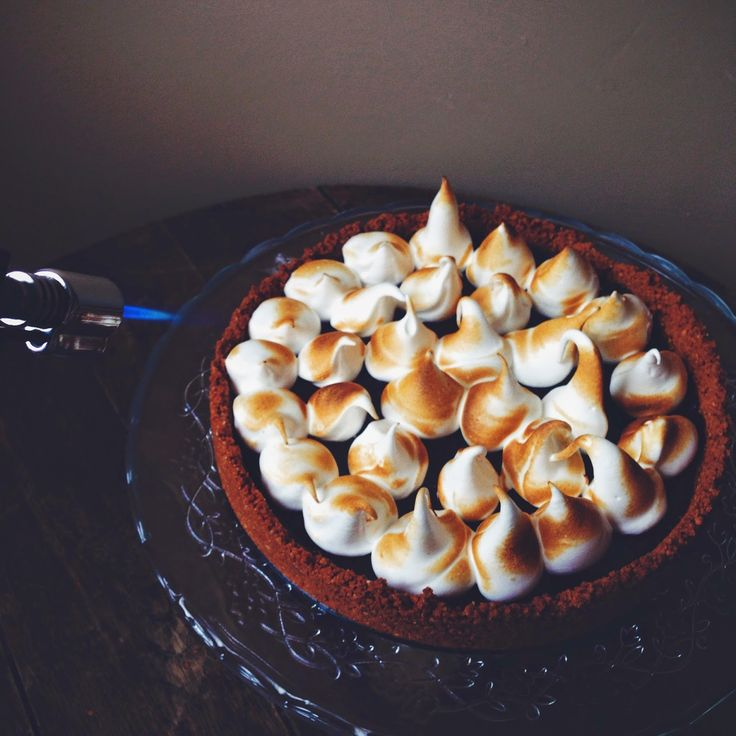 Chocolate Ganache Tart With Meringue Recipe — Dishmaps