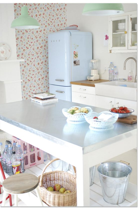 kitchen pastel  Elm St kitchen ideas  Pinterest