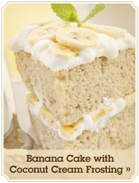 Banana Cake with Coconut Cream Frosting. Looks sooo good. Hope my ...