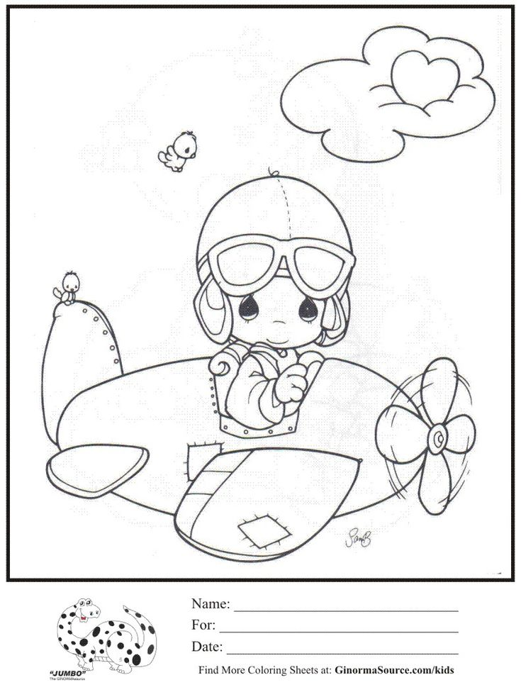 pilot coloring pages - photo#31