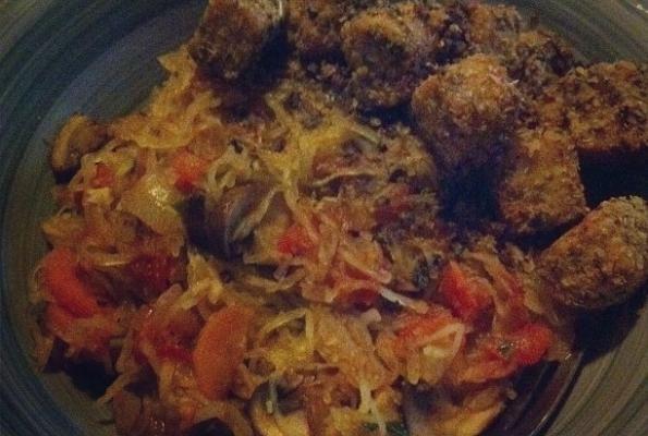 Spaghetti Squash with Mushrooms, Tomatoes, and Basil | VegWeb.com, The ...