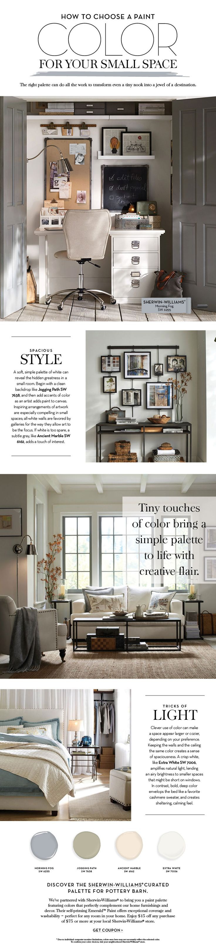 Choose a Paint Color For Your Small Space | Pottery Barn