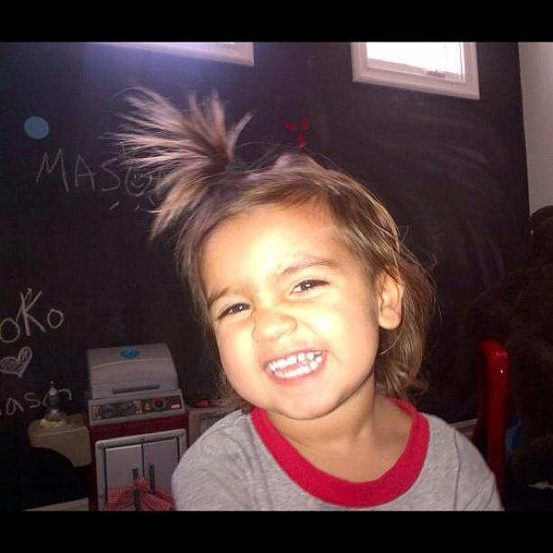 Mason's silly 'do!