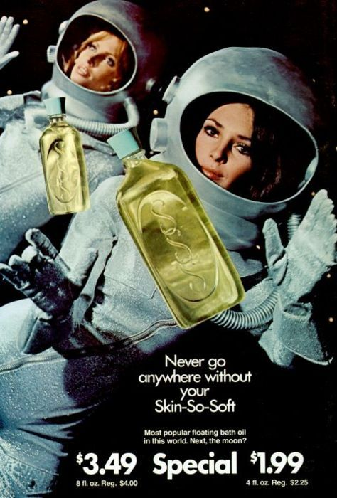 Avon advertisement, 1960s - Apollo 11 was the spaceflight that landed the first humans on the Moon, Americans Neil Armstrong and Buzz Aldrin, on July 20, 1969