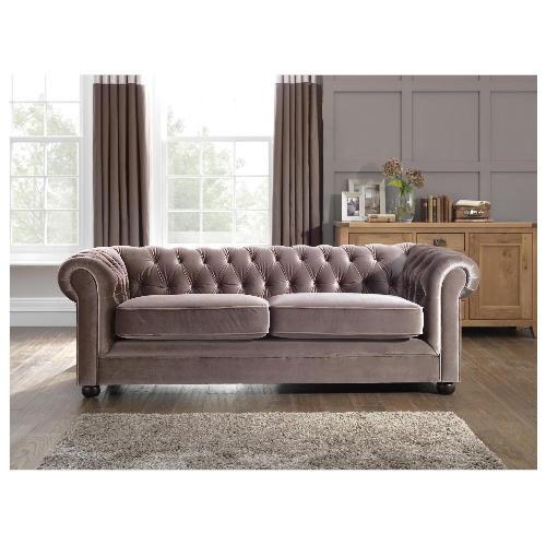 Mink Velvet Chesterfield Sofa Living Room Ideas Pinterest