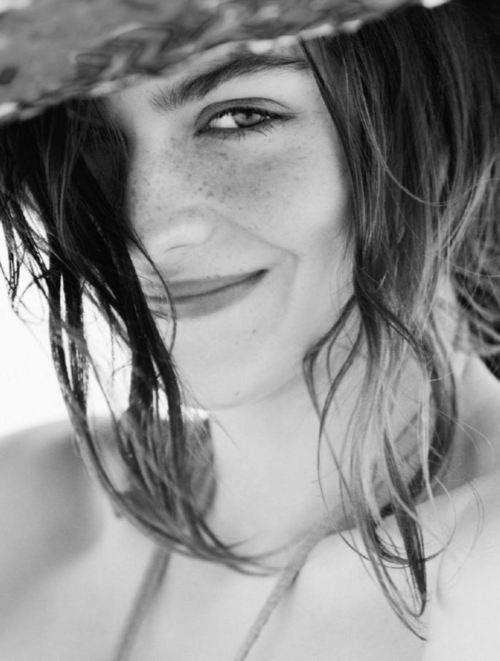 Freckled smile