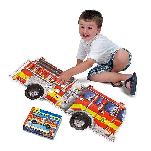 Melissa And Doug Giant Fire Truck Floor Puzzle 24 Piece New 436