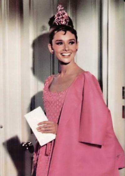 Audrey hepburn breakfast at tiffanys pink dress