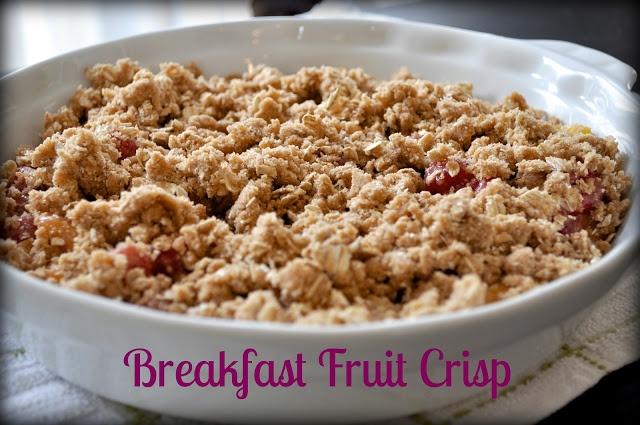 Breakfast Fruit Crisp   Food   Pinterest