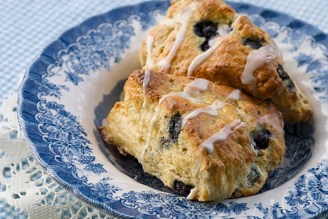 Meyer Lemon and Blueberry Cream Scones by Food Blogga on Flickr