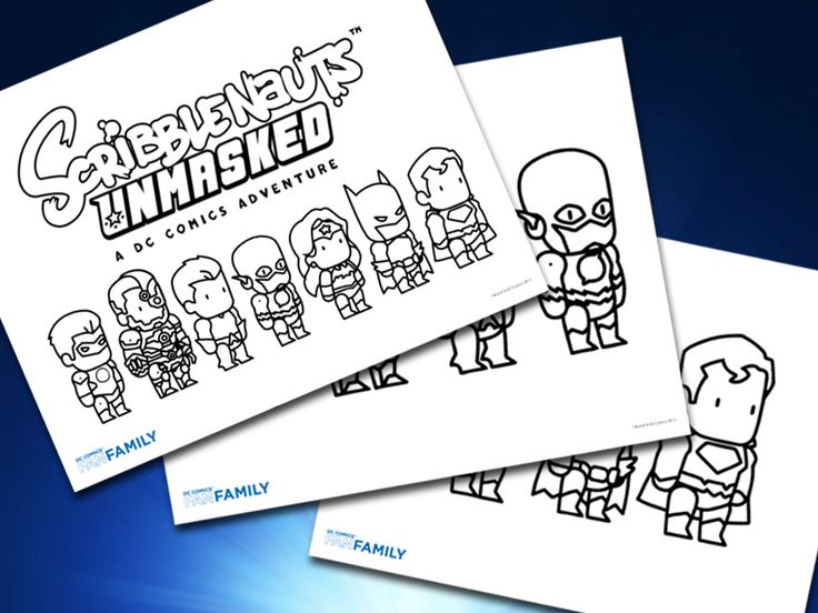 #Scribblenauts Unmasked Printables!