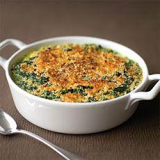 Creamed Spinach Gratin IV Recipe | More Yum! | Pinterest
