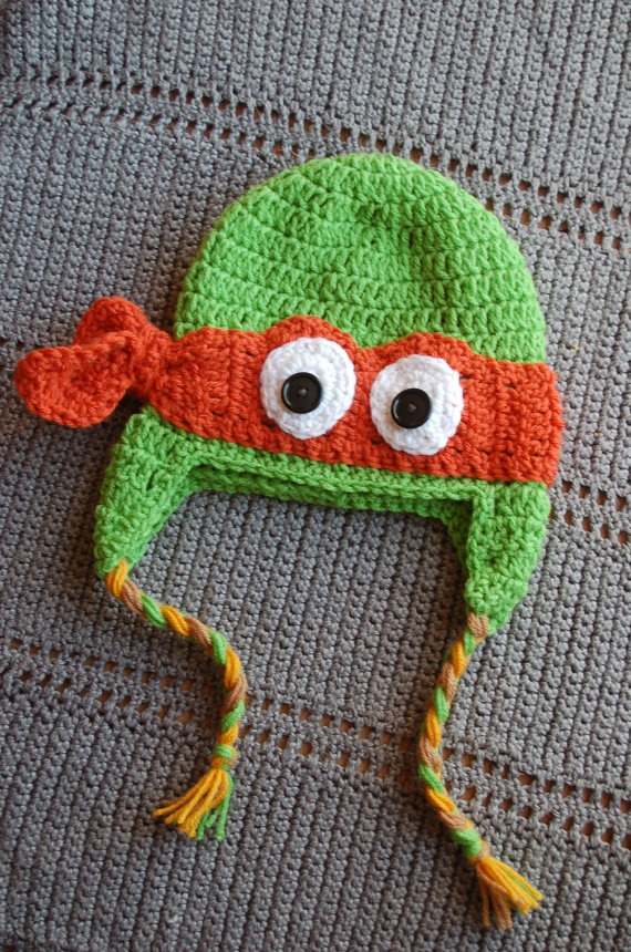 Crochet Pattern For A Turtle Hat : Ninja turtle hat Crochet Pinterest