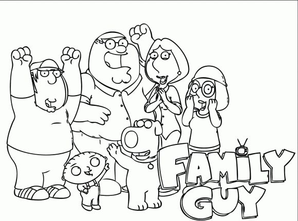 family guy coloring pages - photo#33