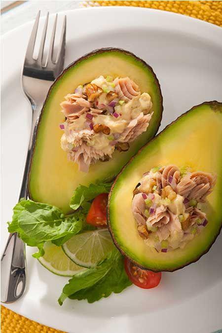 Tuna Salad Stuffed Avocado Halves   Foodie   Pinterest