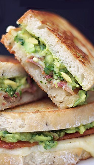 Guacamole Bacon Grilled Cheese | Recipes to try | Pinterest